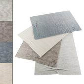 Collection of realistic carpets | RH Shaded Loop Rug