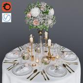 Свадебная сервировка 1