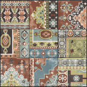 ABK Play Carpet Mix Multicolor Set 4