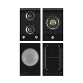 Set of induction and gas cooking panels ASKO DOMINO