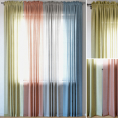 Curtains 96 | EMILY VOILE | Yellow | Coral | Charcoal | Dusty Blue