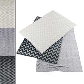 Collection of realistic carpets | RH Strella Rug