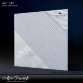 Гипсовая 3d панель Art-1042 от АртРельеф