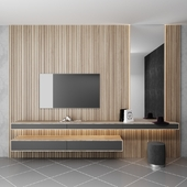 TV wall and dressing table