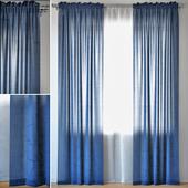 Curtains 97   ERICA CRUSH VOILE   Blue