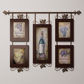 Hanging wine pictures