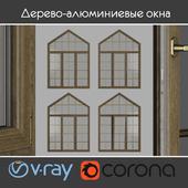 Дерево - алюминиевые окна, вид 04 часть 03 набор 09