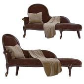 Classic Carpanese upholstered bench