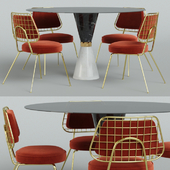 Essential Home set, table and chair