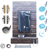 Wood Furniture / Wood Furniture / sink / mixer