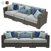 Crate & Barrel Ventura Umber 3-Piece Sofa