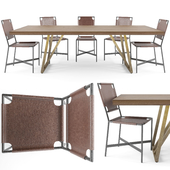 Crate & Barrel Dining Set-01