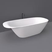 Laufen Ino freestanding bathtub with headrest