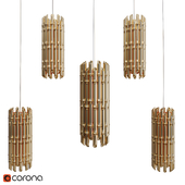 Golden Bamboo Pendant