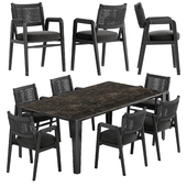 Flexform Ortigia chair Iseo table set