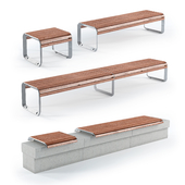 Mmcite Benches Portiqoa, Port (Set 1)