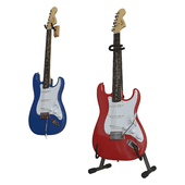 Electric Fender Squier Affinity Stratocaster - (Blue and Red)