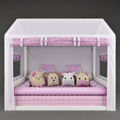 Bed - house Casinha Montessorian and canopy in bed Friends Safari Rose