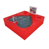 Tub With Red Heart