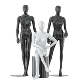 Three faceless female mannequins 24