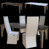 Karl table and chair Rachele. Longhi