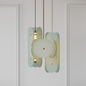 Douglas and Bec - Arc Pendant Bronze and Opal White