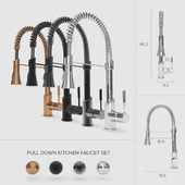 Pull-Down Kitchen Faucet Set 01