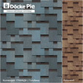 Seamless texture of shingles DOCKE Granada collection