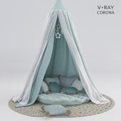 Балдахин для детской c подушками # 2