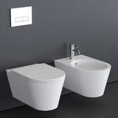 Alice Ceramica Hide Round Wall-Hung WC