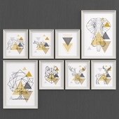 Set of Scandinavian geometric