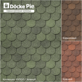 Seamless texture of shingles DOCKE Dome Collection