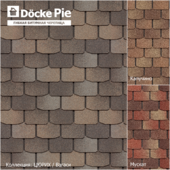 Seamless texture of shingles DOCKE Zurich collection