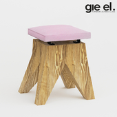 Velor stool by Gie El