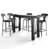 Benchwright Bar Table + Maxx Metal Bar Stool