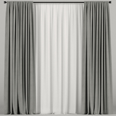 Curtains with tulle.