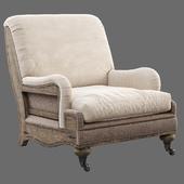 RH Deconstructed English Roll Armchair