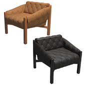 Abruzzo leather tufted chair