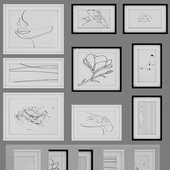 PHOTO FRAME SET 17 (minimalist art)