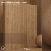 Material wood / teak (seamless) - set 64