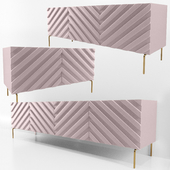 Decorative Chevron Console Blush Pink