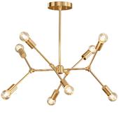 Sputnik Lamp - Brass Light Fixture