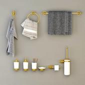 Bathroom decor gold