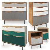 Chest of drawers and cabinet Louis. Sam Wright. Dresser, nightstand