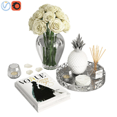 Silver Coffee Table Decor