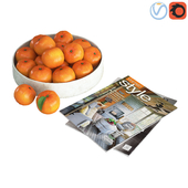 Fruit bowl mandarins