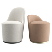 Tail Lounge High back + Low back by GUBI
