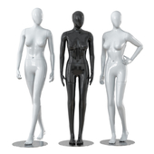 Three faceless female mannequins 28