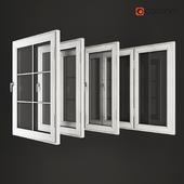White wood windows