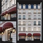 Classic hotel facade